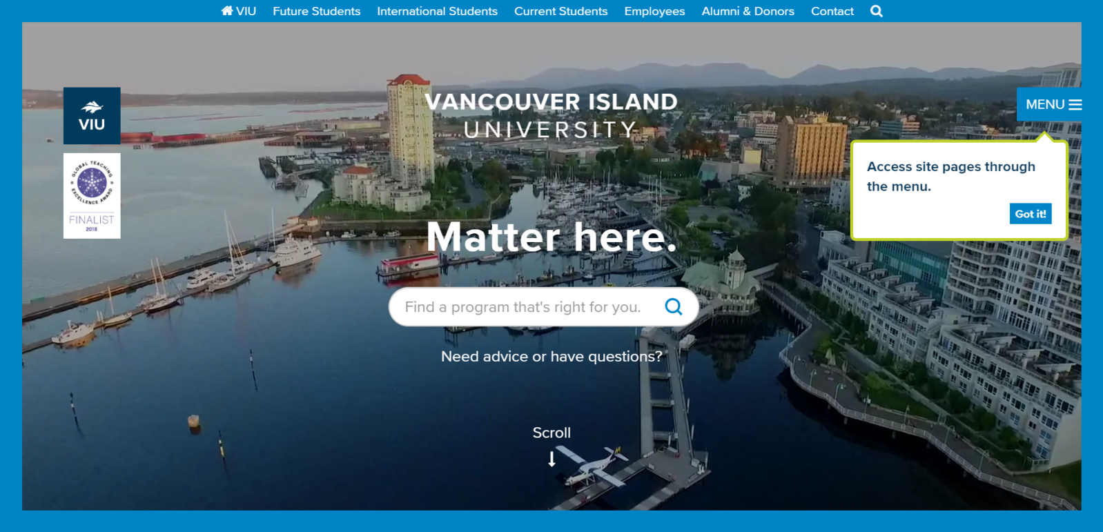 Vancouver Island University(バンクーバーアイランド大学)